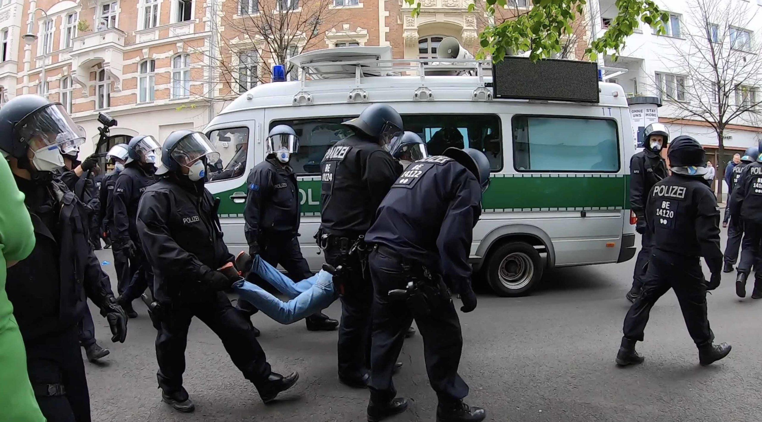 Demo für Grundrechte in Berlin
